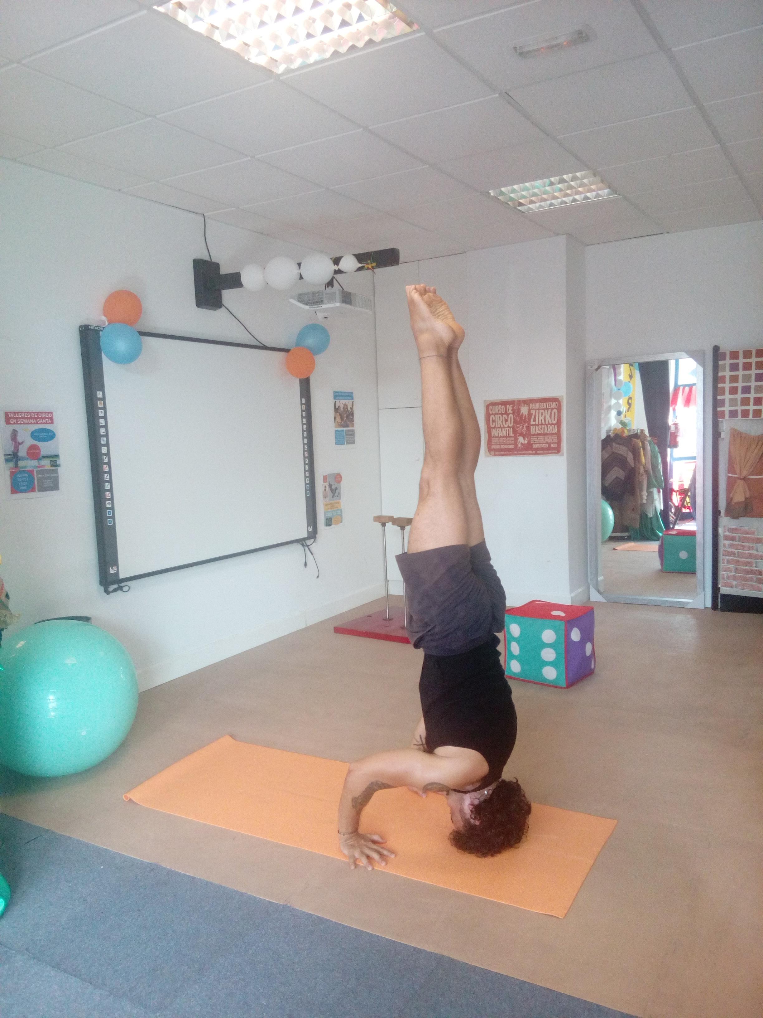 Curso intensivo particular de verticales para docente de Asociación internacional de Yoga y Ayurveda( Madrid)